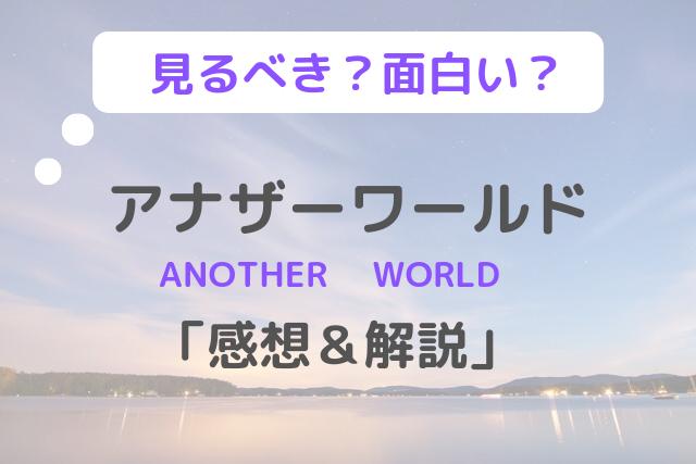 「アナザーワールド」感想&解説:見るべき?面白い?