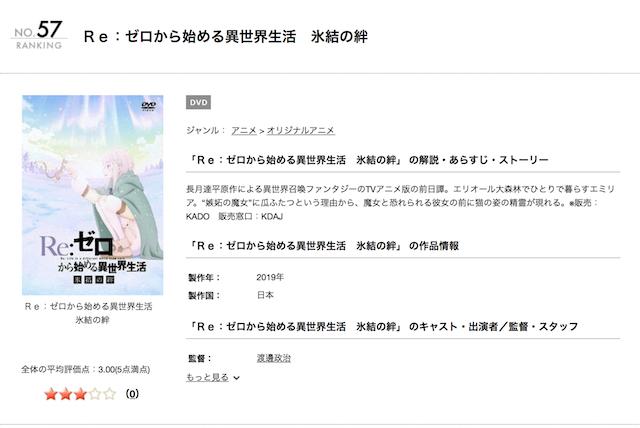 映画リゼロ「氷結の絆」TSUTAYAレンタルページ